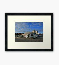 Pier Cafe Framed Print