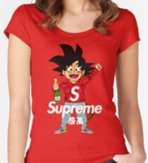 goku sup Women's Fitted Scoop T-Shirt