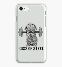 Buns of Steel (Light) iPhone Case/Skin