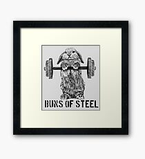 Buns of Steel (Light) Framed Print
