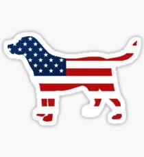 Labrador Retriver patriotisches USA-Flaggen-Sternenbanner-Labrador Sticker