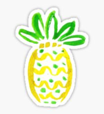 Lilly Pulitzer Inspired Pineapple Sticker