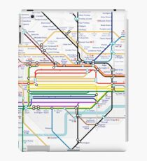 London Pride Tube Map (no text) iPad Case/Skin