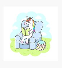 Unicorn Reader Photographic Print