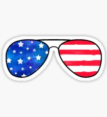 Patriotic Sunglasses Sticker