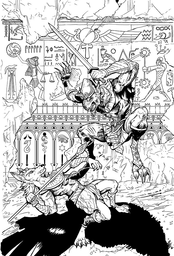 Cornerstone #2 Cover Inks... Coming Out Soon by JesseHansen