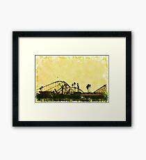 Big Dipper, Santa Cruz Beach Boardwalk, California Framed Print