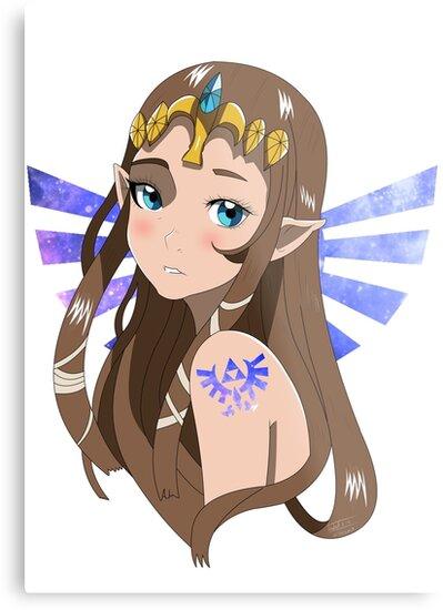 Quot Princess Zelda Quot Metal Print By Izzylc Redbubble