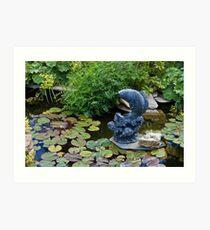 Serenity At The Pond  Art Print