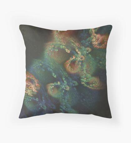 Underwater fractals Throw Pillow