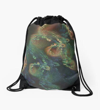 Underwater fractals Drawstring Bag