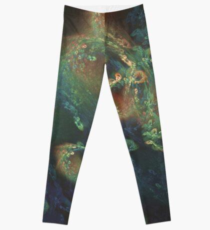 Underwater fractals Leggings