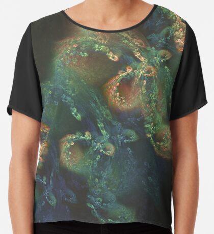 Underwater fractals Chiffon Top