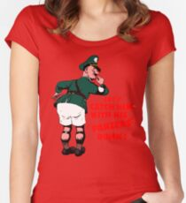 Let's catch him with his panzers down Women's Fitted Scoop T-Shirt