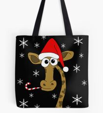 Christmas giraffe Tote Bag
