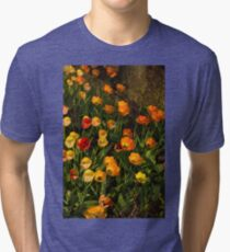 Happy, Sunny, Messy Tulip Tangle Tri-blend T-Shirt