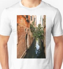 Impressions Of Venice - Small Canal Hugged by a Fig Tree T-Shirt