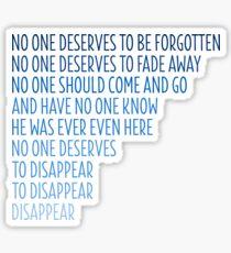 Dear Evan Hansen: Disappear Sticker