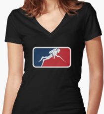 Spearfishing Women's Fitted V-Neck T-Shirt
