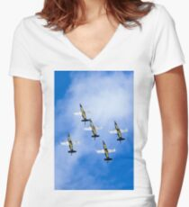 Breitling air display team L-39 Albatross Women's Fitted V-Neck T-Shirt