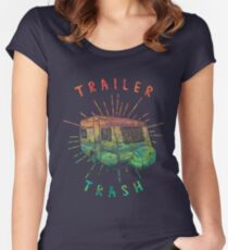 Psychedelic Trailer Trash Women's Fitted Scoop T-Shirt