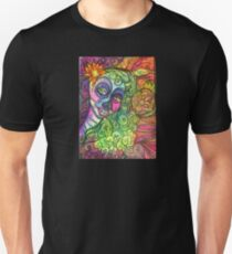 Sugar Skull Zentangle Doodle Day of the Dead Psychedelic Design Unisex T-Shirt