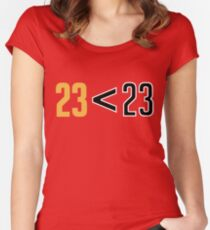 Jordan Greater Than LeBron Women's Fitted Scoop T-Shirt