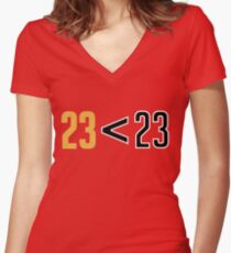 Jordan Greater Than LeBron Women's Fitted V-Neck T-Shirt