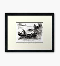 Achille Sirouy Mark Twain Les Aventures de Huck Huckleberry Finn illustration p047 Framed Print