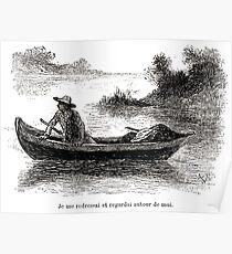 Achille Sirouy Mark Twain Les Aventures de Huck Huckleberry Finn illustration p047 Poster