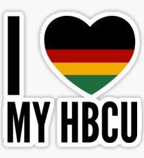 I Heart My HBCU (Square) Sticker