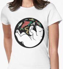 Fishing Bear Womens Fitted T-Shirt