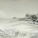 Maine Coastal Drawing by ArtByJessicaJ