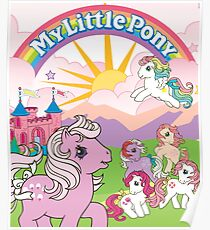 retro my little pony g1 Poster