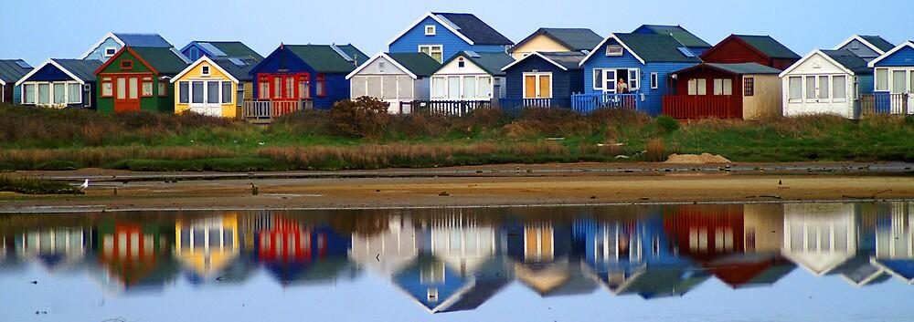 Beach huts. Hengistbury Head  by kimberleyB