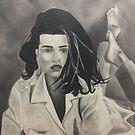 Lying Lady Drawing by ArtByJessicaJ