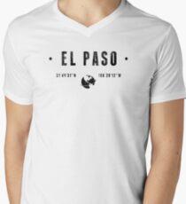 El Paso geographic coordinates V-Neck T-Shirt