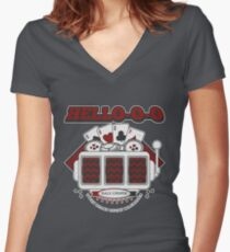 TWIN PEAKS HELLO Women's Fitted V-Neck T-Shirt
