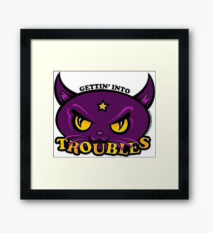 Star Belle - Gettin' Into TROUBLES Framed Print