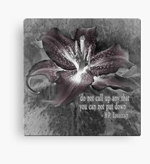 Lovecraft - Do Not Call Up Anything You Can Not Put Down Canvas Print