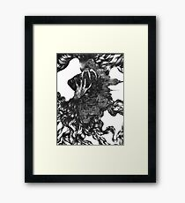 Madness and Genius Framed Print