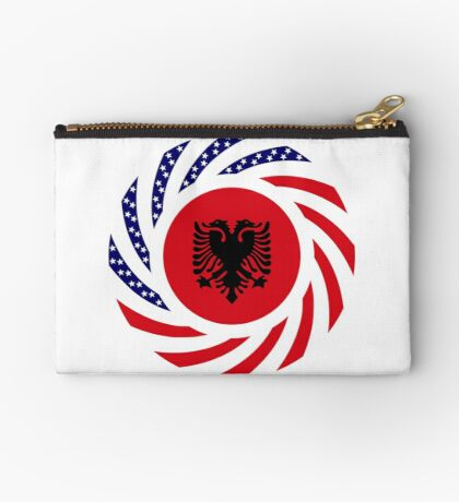Albanian American Multinational Patriot Flag Series Zipper Pouch