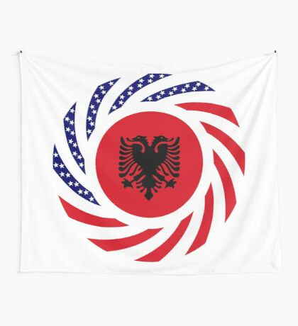 Albanian American Multinational Patriot Flag Series Wall Tapestry