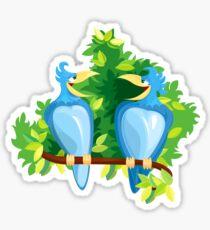Chatting Birds Sticker