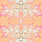 Peach and Pink Frost Fractal Abstract by Artist4God