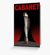 CABARET: Vintage Musical Play Advertising Print Greeting Card