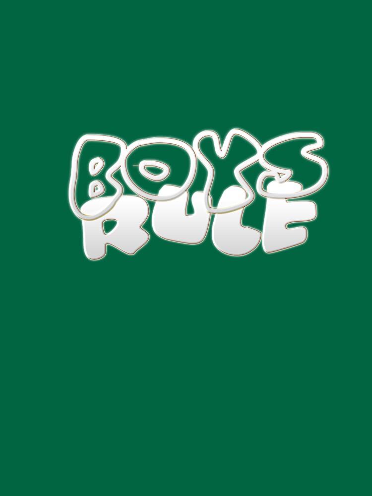 Boys Rule Teenage Tee Shirt by photozoom