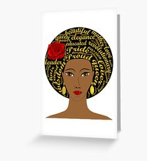 Black History Month Afro Black Queen Greeting Card