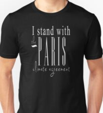 I Stand With The Paris Climate Agreement - Black Unisex T-Shirt