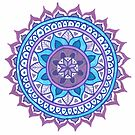 Purple and Blue Mandala by julieerindesign